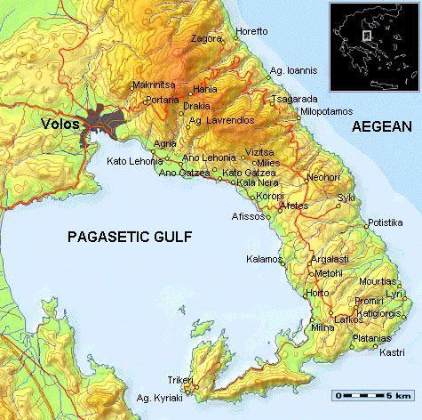 pilion karte Bilder von Kreta