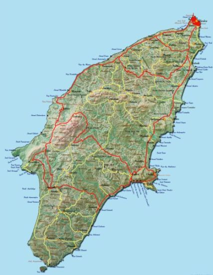Rhodos Karte Faliraki.Rhodos Urlaub Karte